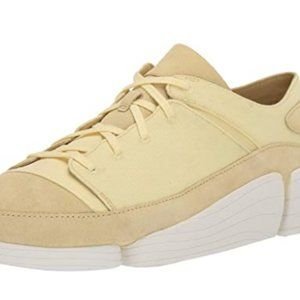 Clarks Trigenic Evo Suede Shoes Pale Yellow